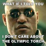 Morpheus on the Olympic torch