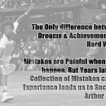 Arthur Ashe on Dreams, Achievements, Hard Work, Mistakes and Success